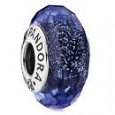 PANDORA Azul Fascinante Iridescence facetada vidro de Murano Contas