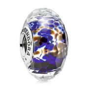 PANDORA Azul Sea Glass Charms Contas
