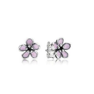 PANDORA Rosa Flor Flor de cerejeira Stud Brincos