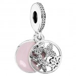 PANDORA Rosa e Prata Primavera Dangle Charms