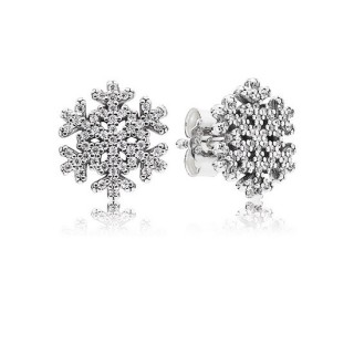 PANDORA Snowflake Brincos