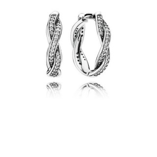 PANDORA Twist of Faith Hoop Brincos