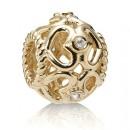 Pandora 14K Open Heart diamante Charms Contas