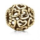 Pandora 14k Dourado Abra seu coração Charms Contas