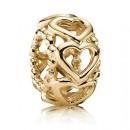 Pandora 14k Lucky in do amor Charms