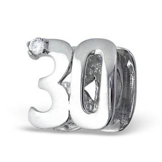 Pandora 30º aniversário ou do aniversário Charms de Contas