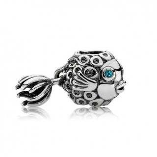 Pandora Azul Tratada Topaz Angel Fish Charms