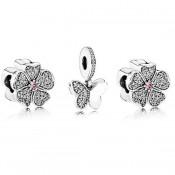 Pandora Borboleta Flor Charms Set