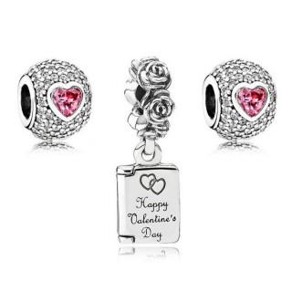 Pandora Captivated Valentines Charms Set