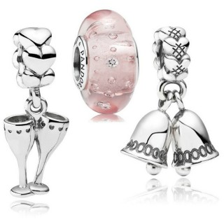 Pandora Champagne at Midnight Charms Set