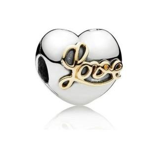 Pandora Coração do amor clip Charms