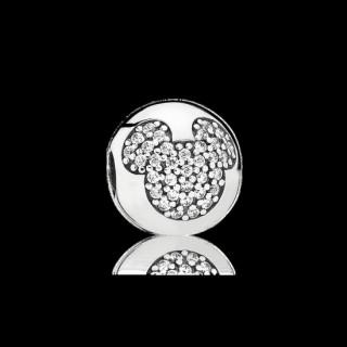 Pandora Disney Mickey Pavé clipe Charms