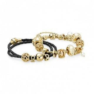 Pandora Douradoen Elegance Inspirado Pulseira