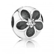 Pandora Enamel Flower Clipe Charms
