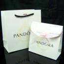 Pandora Joias Grande sacos de papel, papel pequenos sacos Kay Fita Rosa