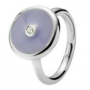 Pandora Lavender esmalte & CZ Disk Aneis