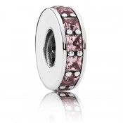 Pandora Prata Blush Rosa Eternity Spacer Charms