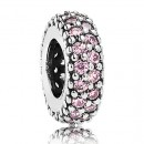 Pandora Prata Fantasia Rosa espaçadores Zirconia Cubic Charms