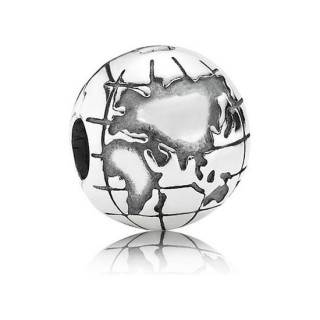Pandora Prata Globe clip Charms