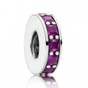 Pandora Prata Real Roxo Eternity Spacer Charms