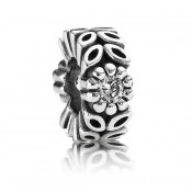 Pandora Prata Sparkling Forest Flower Spacer Charms