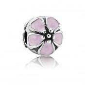 Pandora Rosa da flor de cerejeira clip Charms