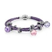 Pandora Roxo Rosa Contas Majestic Elegance Inspirado Pulseira