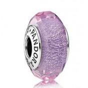 Pandora Roxo Shimmer Murano vidro Charms Contas