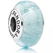 Pandora Sterling Prata DISNEY de Elsa Murano Vidro Gelo Azul Contas