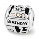 Pandora Sterling Prata Reflexões Swarovski aniversário Colagem Contas
