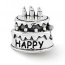 Pandora Sterling Prata Reflexões de aniversário bolo de Charms Contas