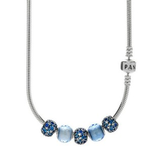 Pandora cintilando Azul Colares completos