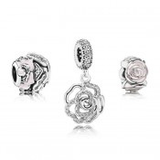Pandora cintilante Rosa Rose Charms Set