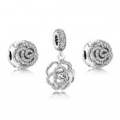 Pandora cintilante Rose Charms Set