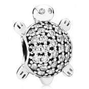 Pandora com Clear Sea Turtle Charms CZ