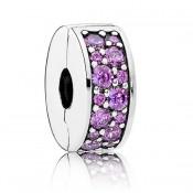 Pandora extravagante Roxo Brilhante Elegance clip Charms