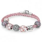 Pandora te amo mamãe Inspirado Rosa Pulseira
