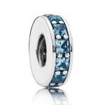Encantos Pandora Prata Céu Azul Eternity Spacer Charms