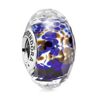 PANDORA Azul Sea Glass Charms Contas