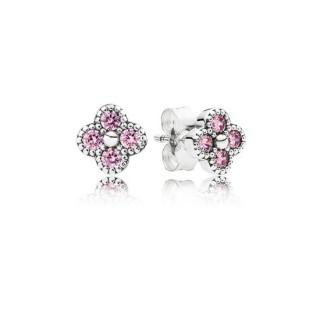 PANDORA Brincos Studs Oriental Blossom com Rosa Cubic Zirconia
