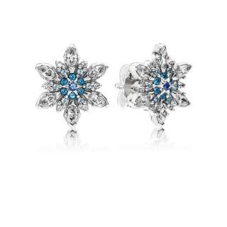 PANDORA Crystallized Snowflake Brincos