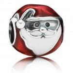 PANDORA Jolly de Santa Vermelho Charms