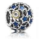 PANDORA Night Sky Azul / Prata Charms