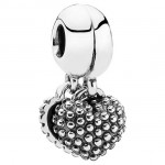 PANDORA Pedaço of My Heart Mother / Son Dangle Charms