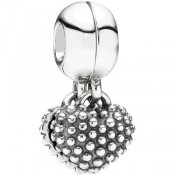PANDORA Pedaço of My Heart mãe / filha Dangle Charms