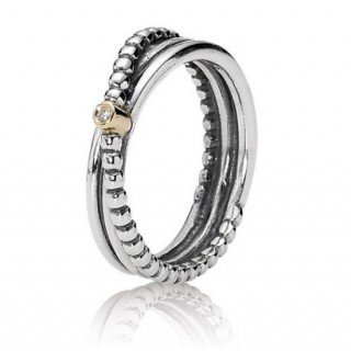 PANDORA Rising Star Aneis com diamante