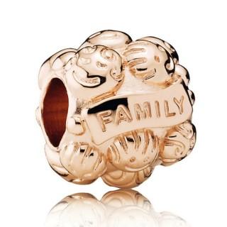 PANDORA Rose Dourado Love & Família Charms