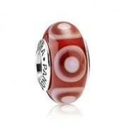 PANDORA Vermelho Stepping Stones Charms Contas