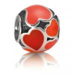 PANDORA Vermelho do amor Hot Charms