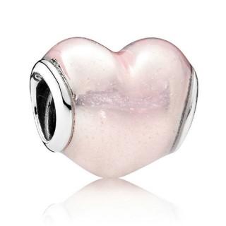 PANDORA cintilante Rosa Coração Charms